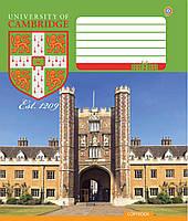 """Тетрадь школьная 12 листов в клетку """"CAMBRIDGE History"""" ЗУ"""