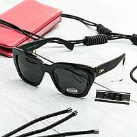 Женские брендовые очки копия Диор квадратные черные, фото 1