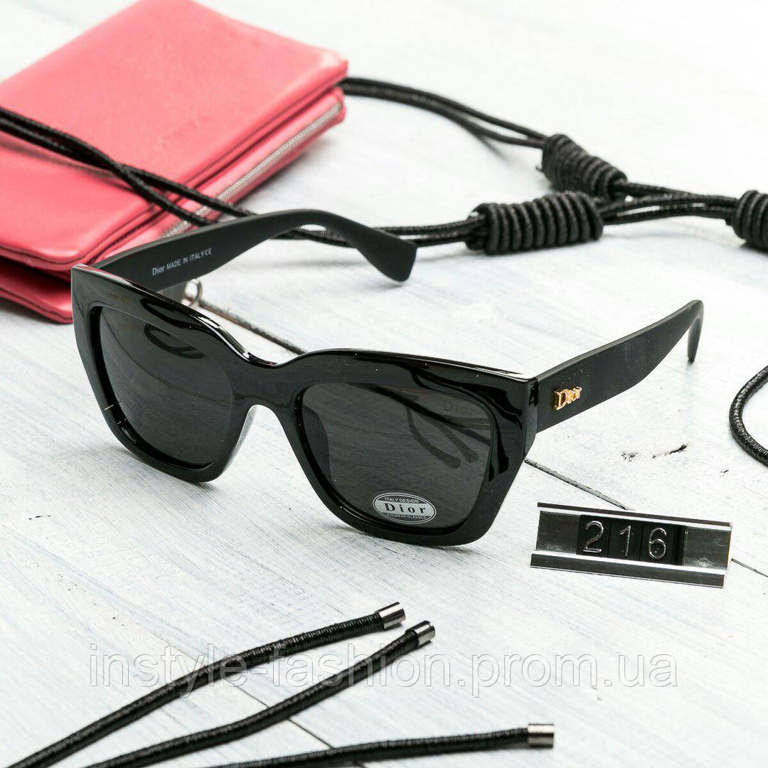 Женские брендовые очки копия Диор квадратные черные