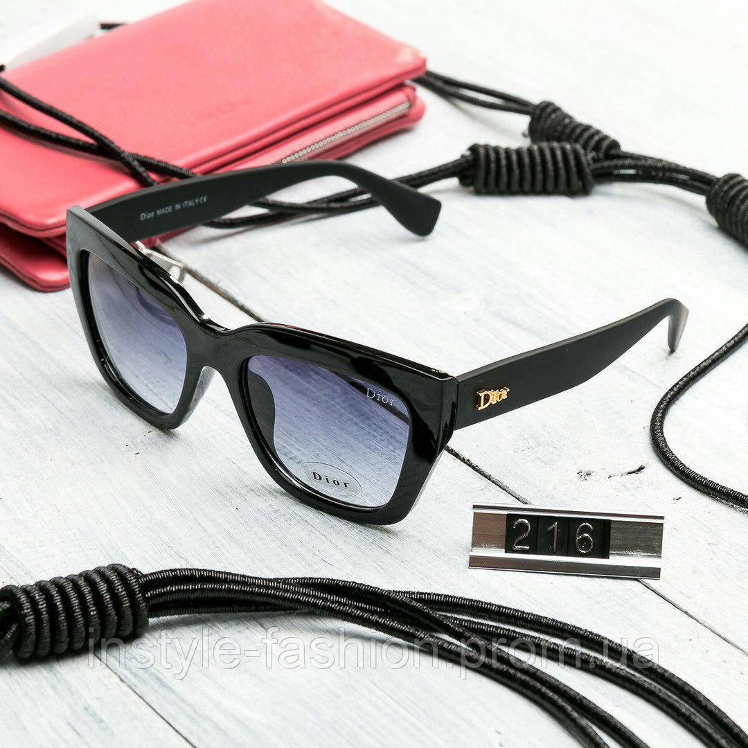 97fbb65ad5f9 Женские брендовые очки копия Диор квадратные черные со светлыми стеклами