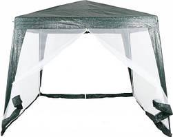 Садовый павильон-шатер с москитной сеткой и молниями S3301-2.4 (3x3 м) полосатый