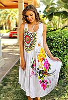 Платье, сарафан женский белый из вискозы Индиано AnastaSea 711