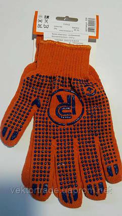 Перчатка первомайская с ПВХ точкой 526 (оранж.) , фото 2