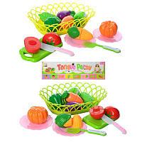 Продукты на липучке, досточка, посуда, корзина, 2 цвета, 3830-31