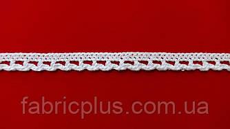 Кружево макраме х/б 10 мм белое одностороннее