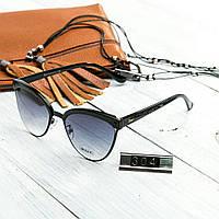 Женские брендовые очки копия Диор реплика черные, фото 1