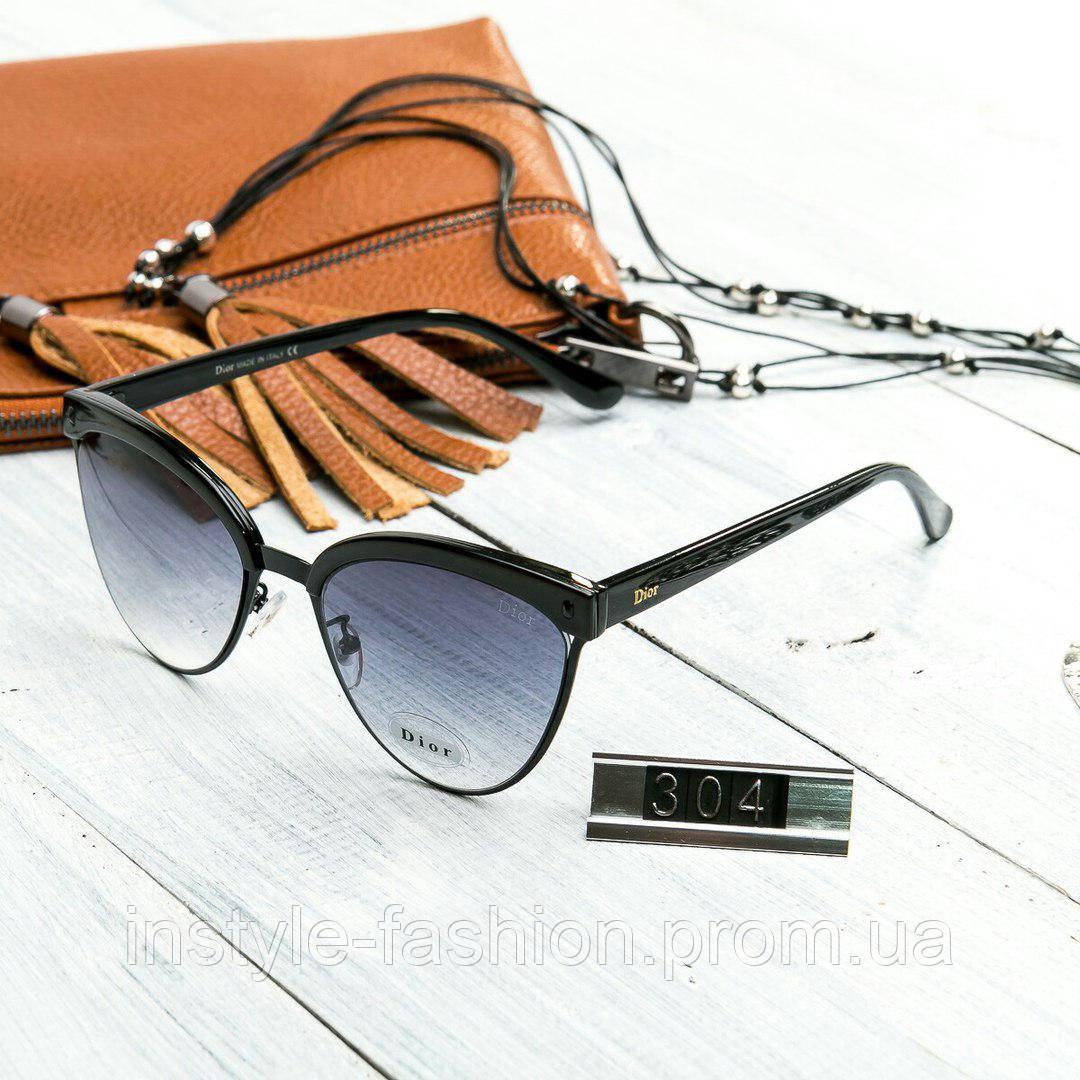 Женские брендовые очки копия Диор реплика черные