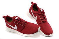 Кроссовки Nike Roshe Run Burgundy Бордовые мужские