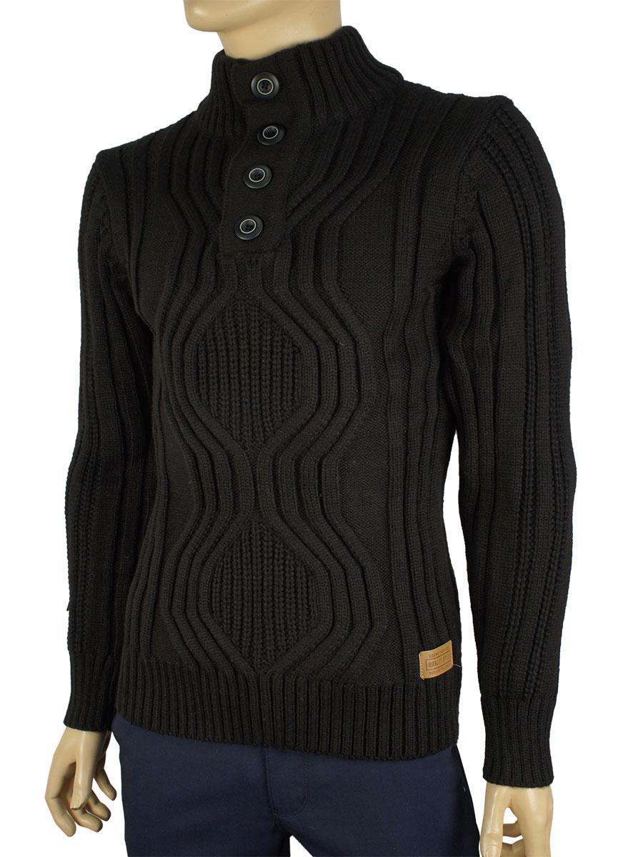 В язаний светр чоловічий Expand (чорний) 3021 Н - Магазин великих розмірів  5XL 616c709d0767a