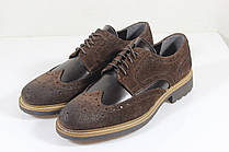 Итальянские мужские кожаные туфли броги 42 р.
