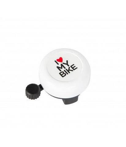 Дзвінок велосипедний Grenn Cycle GCB-1051A-bk I love my bike BEL-35-92