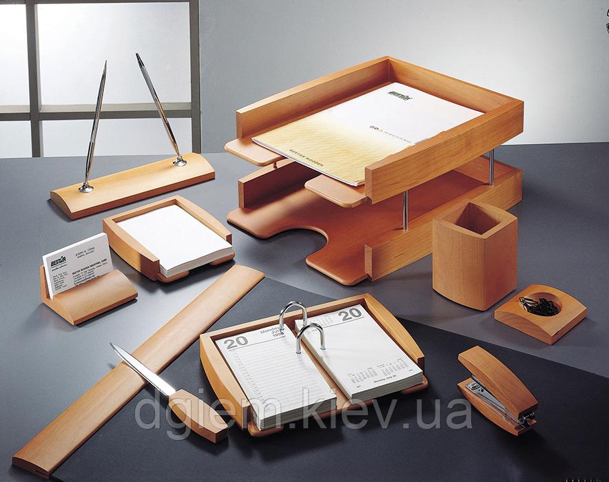 """Настольный набор деревянный 10 предметов """"светлая вишня"""""""