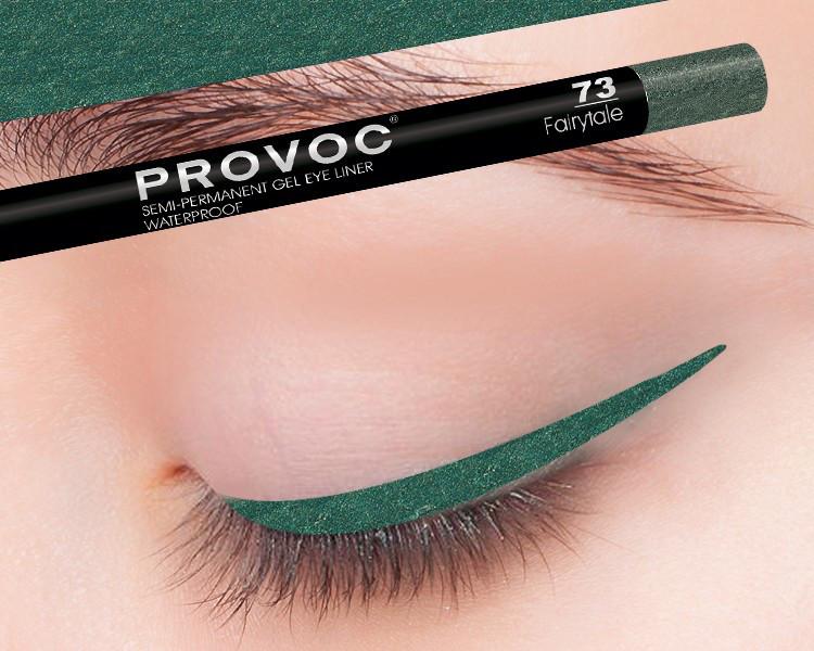 Полуперманентный гелевый карандаш для глаз №73 (мор волны, св,шиммер) PROVOC Gel Eye Liner Fairytale