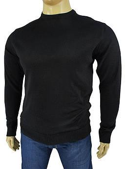 Чоловічий светр великого розміру Wool Yurt 0380 В коло в чорному кольору