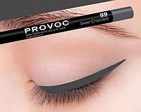 Полуперманентный гелевый карандаш для глаз №89 (цв.cеро-корич.) PROVOC Gel Eye Liner 89 Sweet Chocolate