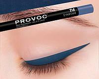Полуперманентный гелевый карандаш для глаз №74 (цв. темно-синий) PROVOC Gel Eye Liner Entranced