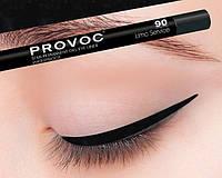 Полуперманентный гелевый карандаш для глаз №99 (цв.черный с гологр) PROVOC Gel Eye Liner Black Cavia