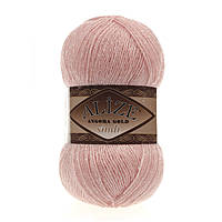 Alize Angora gold simli 363  светло розовый