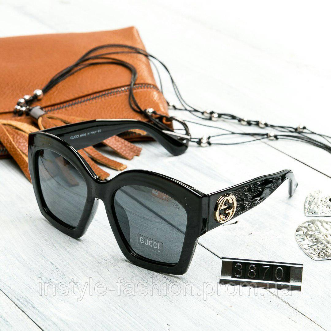 Женские брендовые очки Gucci Гуччи квадратные черные - Сумки брендовые,  кошельки, очки, женская 891ece7578b