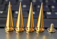 Шипы конус металлические винтовые 26 x 10 мм, золото
