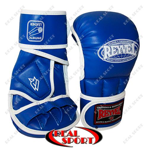 Перчатки для рукопашного боя Reyvel BK110043 (винил, р-р M-XL, синий)