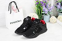 Adidas Equipment adv 91-17 женские кроссовки черные с красной серединкой
