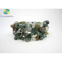 Ексклюзивний браслет з яшми зеленої