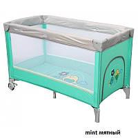 Манеж-кровать Baby Mix HR-8052 Воробушки