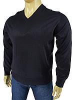 Джемпер чоловічий Wool Yurt 0380 В мис в темно-синьому кольорі