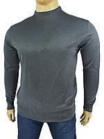 Чоловічий светр Wool Yurt 0380 В коло великого розміру в сірому кольорі.