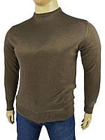 Джемпер великого розміру Wool Yurt 0380 В коло в коричневому кольорі