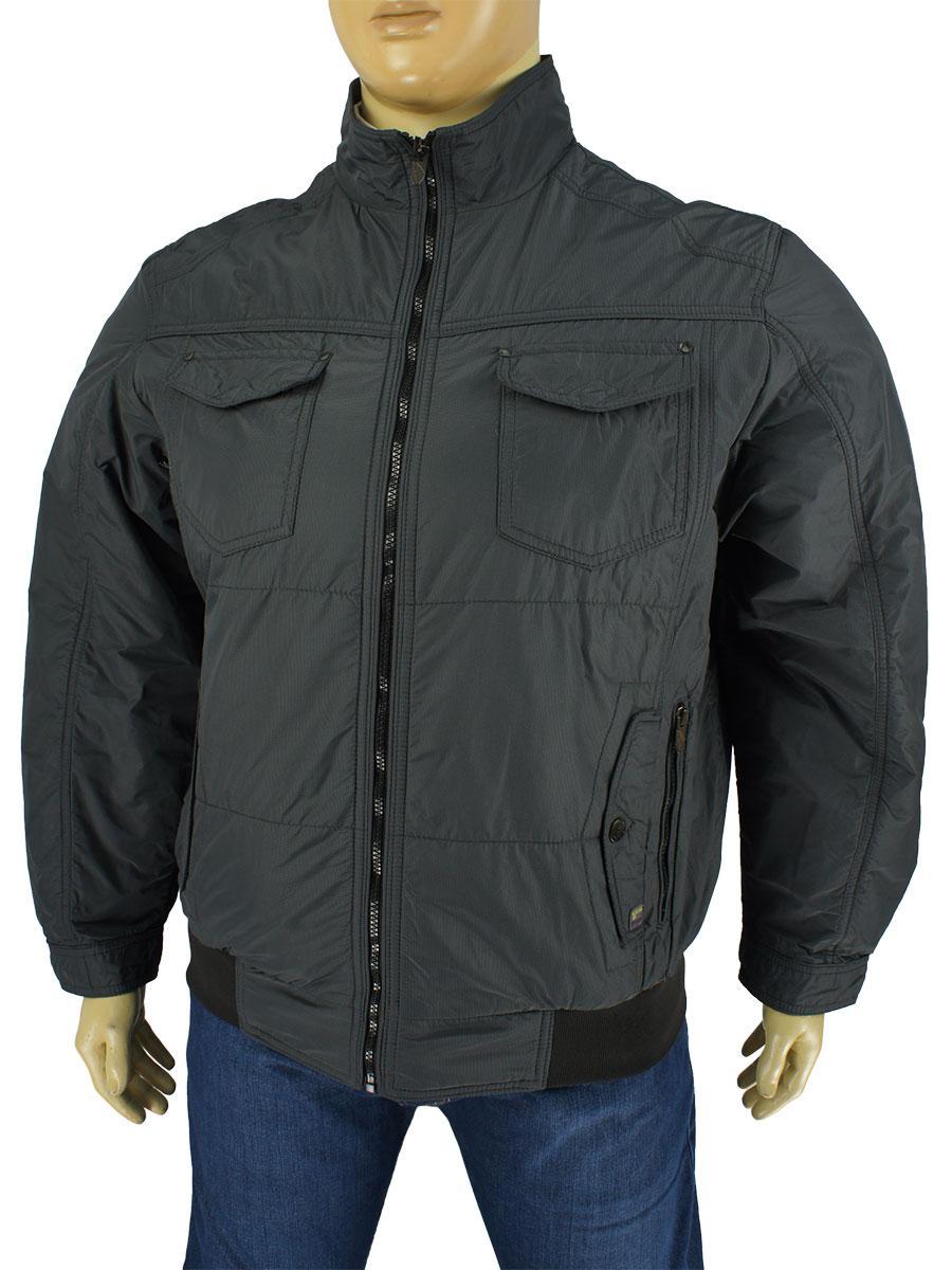 Чоловіча демісезонна куртка Santorio 7306#5043 в великому розмірі