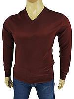 Бордовий чоловічий светр Wool Yurt 0380 В мис в великому розмірі