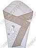 Летний конверт одеяло с вышивкой на выписку для новорожденного Песик бежевый