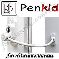 Ограничитель открывания Penkid Safety Lock на окна белый (с тросом)