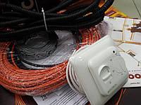 Обогрев дачи  кабель тонкий ( в комплекте с крепежом и Регулятором ) 7.3  м.кв