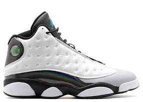 Баскетбольные кроссовки Nike Air Jordan 13 - Black\Grey\White, материал - кожа + нубук, подошва - пена