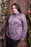 Жіноча куртка з потайним капюшоном великих розмірів, з 48 по 82 розмір, фото 1