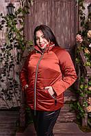 Куртка женская с потайным капюшоном больших размеров, с 48 по 82 размер, фото 1