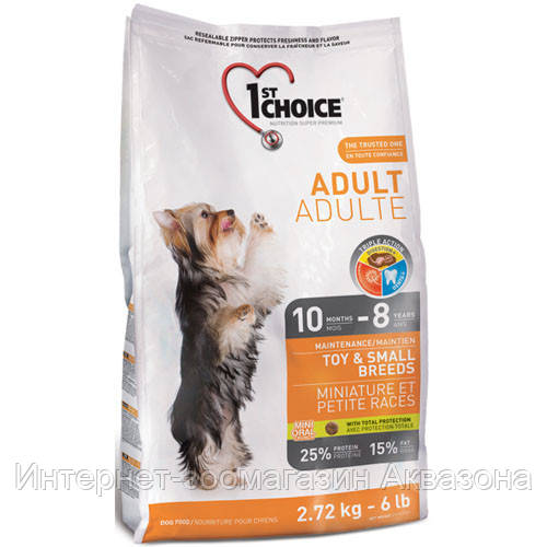 Сухой корм для собак 1st Choice Adult Mini (с курицей), 7 кг