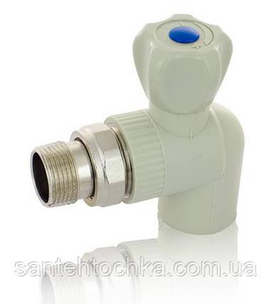 """ПП Кран радиаторный FADO 25x3/4"""" угловой, фото 2"""