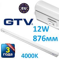 Светодиодный LED светильник GTV, 12W, 876мм, накладной, с выключателем, 4000К, IP40, OPD. ПОЛЬША!