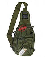 Рюкзак на одну лямку Tactical Rush Olive, фото 1