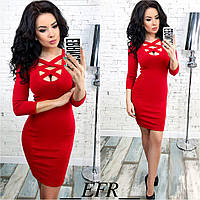 Платье материал: джерси трикотаж цвета: красный, бутылка, черный, фуксия, кофейный длина: 90 см ефран№253