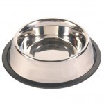 Trixie TX-24855 миска для собак металлическая на резине 2,8 l/ø 24 cm