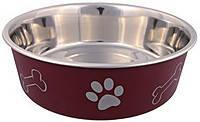 Trixie TX-25241 миска металлическая на резине с пластиковым покрытием  для собак мелких пород, фото 2