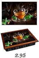 """Поднос на подушке """"Чай с лимонои и корицей"""", фото 1"""