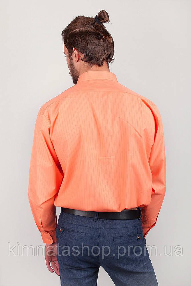 1fd5803dc13e242 Рубашка Яркая Атласная Fra №875-13 (Апельсиновый) — в Категории ...