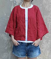 Женский весенний льняной пиджак - куртка , городской стиль. Цвет на выбор!