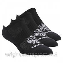 Носки черные Reebok Classic Footwear Invisible - 3 пары CV8485 - 2018